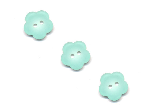 Flower Buttons - Green - 501