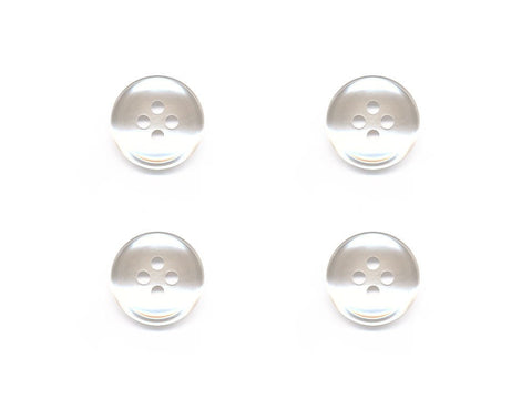 Round Plain Buttons - White - 860
