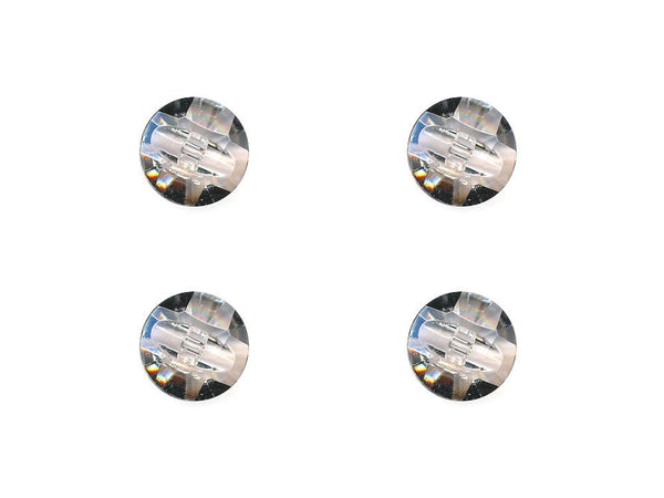 Domed Diamond Effect Buttons - Clear - 020