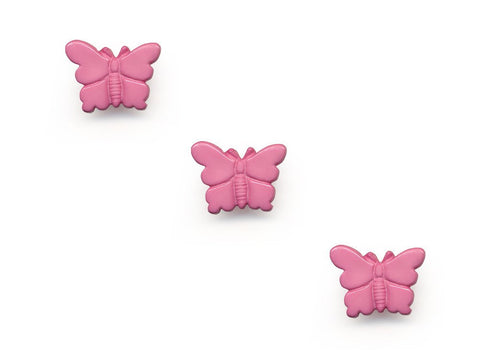 Butterfly Shaped Buttons - Pink - 957