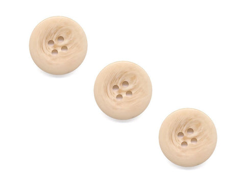 Round Shell Effect Buttons - Cream - 996
