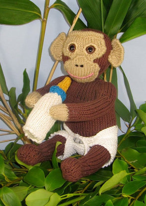 Charlie the Baby Chimpanzee by MadMonkeyKnits (523) - Digital Version