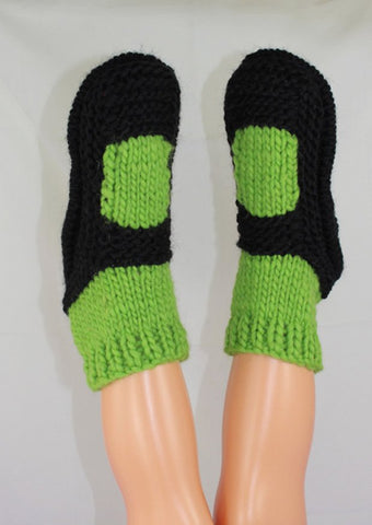 Childrens Superfast Sock Slippers by MadMonkeyKnits (1032) - Digital Version