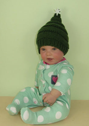 Christmas Beanie Hat by MadMonkeyKnits (885) - Digital Version