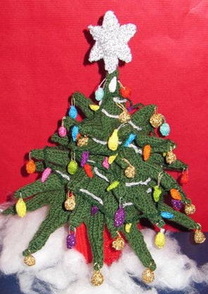 Christmas Tree Beanie Hat and Desk Decoration by MadMonkeyKnits (71) - Digital Version