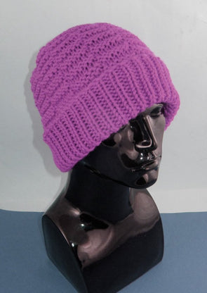 Chunky Basket Stitch Beanie Hat by MadMonkeyKnits (788) - Digital Version