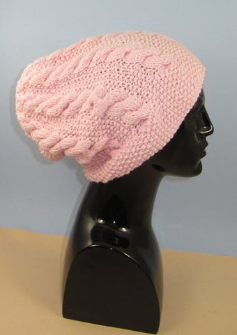 Chunky Cable Slouch Hat by MadMonkeyKnits (953) - Digital Version