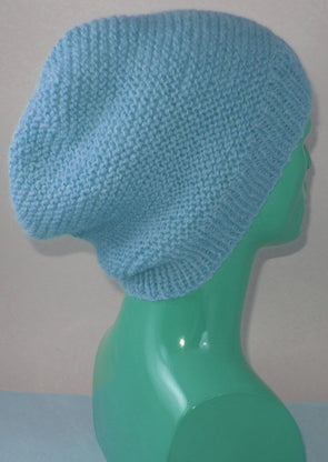 Chunky Garter Stitch Slouch Hat by MadMonkeyKnits (931) - Digital Version