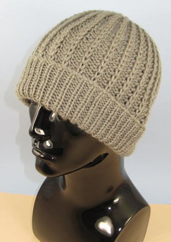 Chunky Simple Fishermans Rib Beanie Hat by MadMonkeyKnits (956) - Digital Version