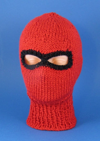 Chunky Ski Mask Balaclava by MadMonkeyKnits (473) - Digital Version
