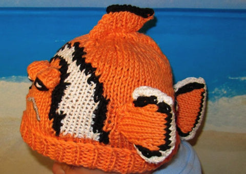 Clown Fish Beanie by MadMonkeyKnits (80) - Digital Version