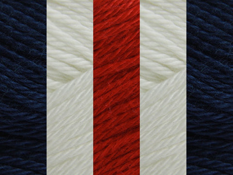 Sirdar Cotton DK Colour Pack - Red, White, Blue