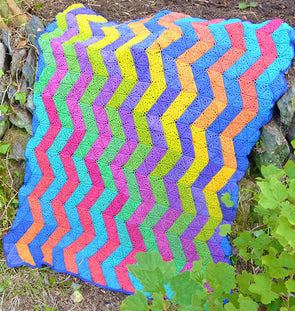 Zig Zag Blanket Pattern by Amanda Perkins - Digital Version