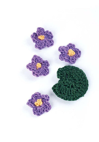 Crocheted Flowers African Violets - Digital Version