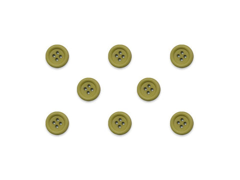 Round Ring Edge Button - Apple Green - 20L