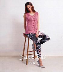 Bobble and Wave Tank in Debbie Bliss Mia (DB018)