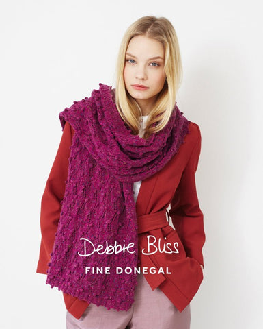 Bobble and Lace Scarf in Debbie Bliss Fine Donegal (DB025)