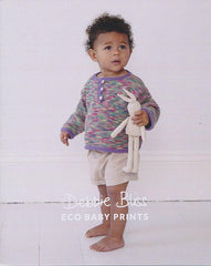 Triangle Edged Top in Debbie Bliss Eco Baby Prints (DB066)