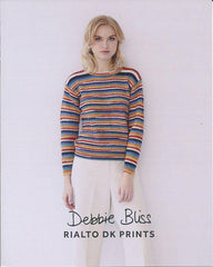 Striped Rib Sweater in Debbie Bliss Rialto Prints (DB068)