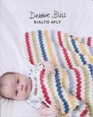 Striped Crochet Blanket in Debbie Bliss Rialto 4 Ply (DB078)