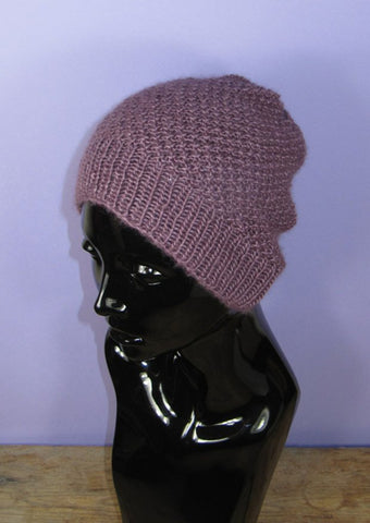 Double Moss Stitch Slouch Hat by MadMonkeyKnits (974) - Digital Version