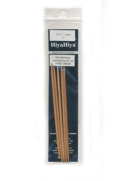 HiyaHiya Bamboo Double Point Knitting Needles - 5