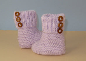 Easy Baby 3 Button Rib Top Booties by MadMonkeyKnits (823) - Digital Version