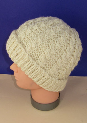 Easy Cable Chunky Unisex Beanie Hat by MadMonkeyKnits (714) - Digital Version