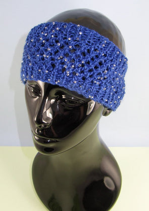 Easy Lace Beaded Headband by MadMonkeyKnits (732) - Digital Version