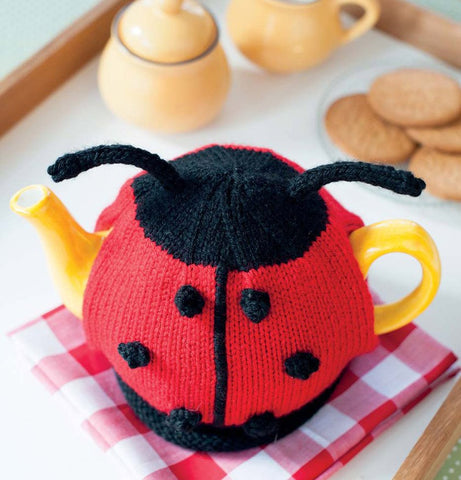 Easy Knitted Lady Bug Tea Cosy - Digital Version