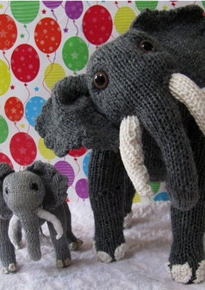 Elsie Elephant and Baby Elvis by MadMonkeyKnits (1) - Digital Version