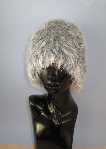 Faux Fun Fur Beanie Hat by MadMonkeyKnits (942) - Digital Version