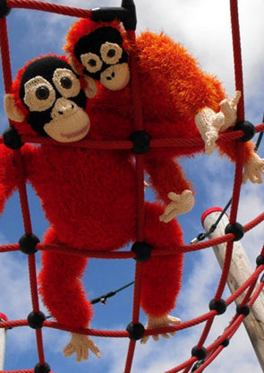 Fizz and Fuzz the Baby Orangutan Identical Twins by MadMonkeyKnits (32) - Digital Version