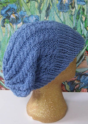 Iris Cable Peak Slouch Hat by MadMonkeyKnits (84) - Digital Version