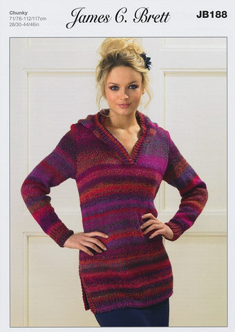 Sweaters in James C Brett Marble Chunky (JB188)