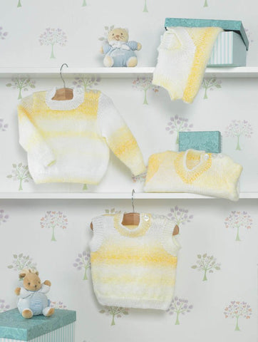 Sweaters and Slipovers in James C. Brett Baby Marble DK (JB284)