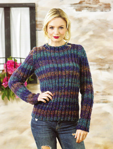 Ladies Sweater in James C. Brett Tuscany Chunky (JB469)
