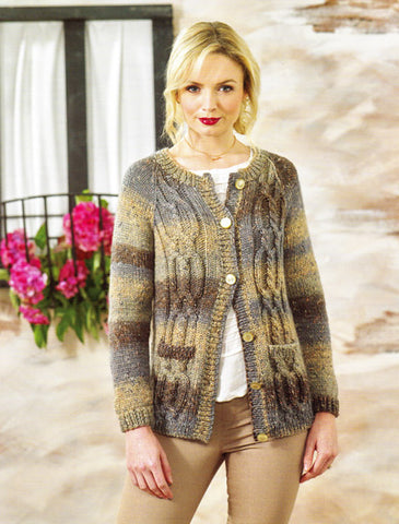 Ladies Cardigan in James C. Brett Tuscany Chunky (JB470)