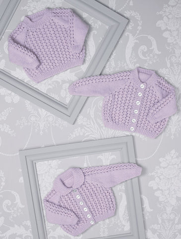 Babies Cardigans & Sweater in James C. Brett Innocence Bamboo Rich DK (JB510)