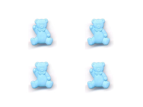 Teddy Bear Shaped Buttons - Blue - 080