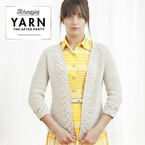 Yarn The After Party - Linen and Lace Cardigan in Scheepjes Linen Soft