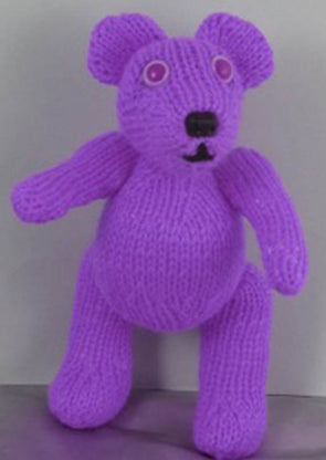 Little Lilac Teddy Bear by MadMonkeyKnits (501) - Digital Version
