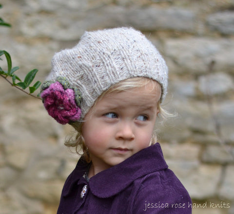 2 x 2 Rib Little Petal Slouchy Hat by Linda Whaley - Digital Version