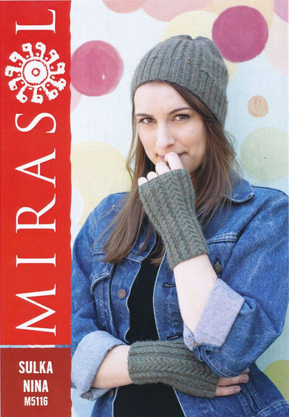 Cable Beanie and Mitts in Mirasol Sulka Nina (M5116)