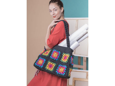 Granny Square Bag in Novita 7 Veljestä