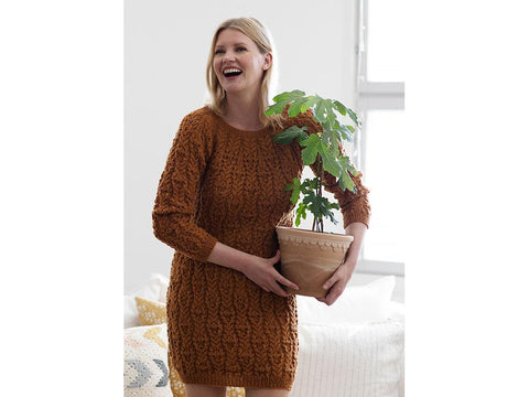 Women's Cabled Tunic in Novita Nordic Wool