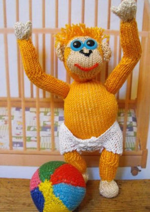 Oscar The Baby Orangutan by MadMonkeyKnits (00004) - Digital Version