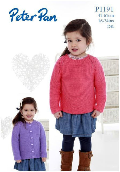 Easy Knits Sweater and Cardigan in Peter Pan DK (P1191) Digital Version