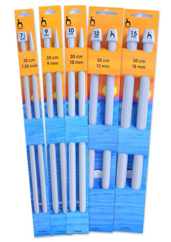 Pony Single Point Knitting Needles (Plastic) - 30cm (Pair)