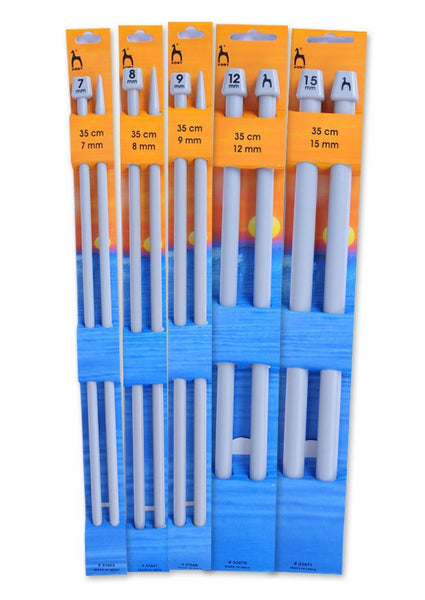 Pony Single Point Knitting Needles (Plastic) - 35cm - (Pair)